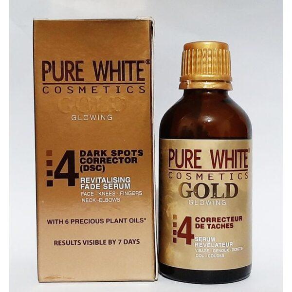 PURE WHITE GOLD ANTI-SPOT CORRECTIVE SERUM HANDS, FEET, LIGHTENING KNEES