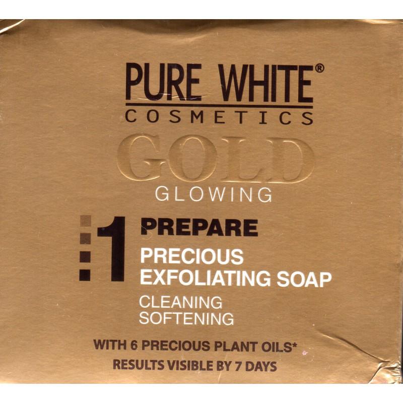 Pure White Gold Glowing Precious Exfoliating Soap