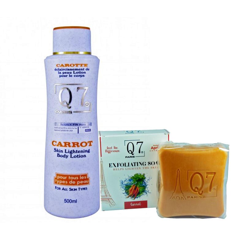 Q7 Paris Carrot - Lotion And Soap