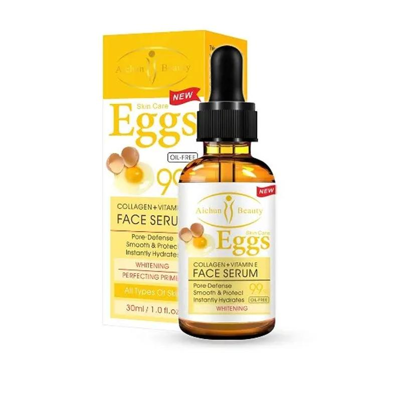 Aichun Beauty Collagen+vitamin E Egg Face Whitening Serum - 99% Oil Free